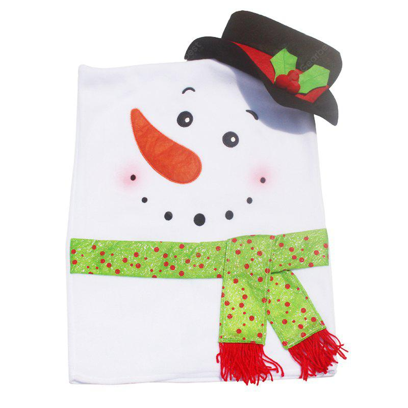 WHITE AND BLACK Christmas Snowman Shape Seat Cover