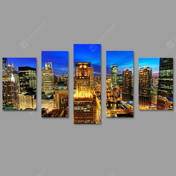JOY ART Prints Bright City Nightscape Canvas Art