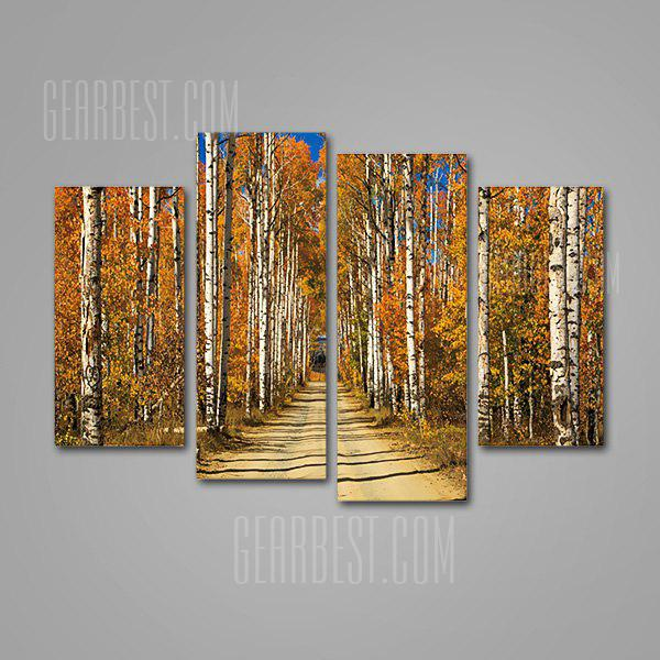 Forest Alley Print Unframed Decorative Canvas Artwork 4PCS