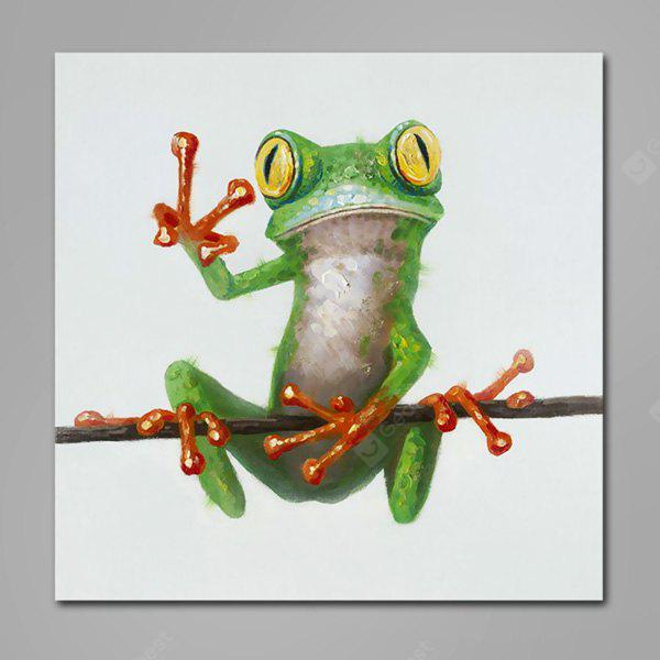 Mintura Animal Frog Hand Painted Oil Painting