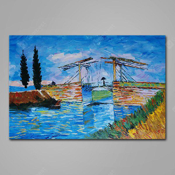 Mintura Abstract Bridge View Hand Painted Oil Painting