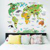 Buy Animal World Map Design Home Decor Sticker COLORMIX