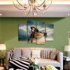 God Painting Unframed Prints Modern Horse Wall Art 4PCS - MULTICOLORE