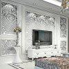 European Style Nonwoven Cloth Wallpaper for TV Background - FROST