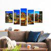 JOY ART Prints Bright City Nightscape Canvas Art - COLORMIX