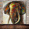 Mintura Animal Elephant Hand Painted Oil Painting - COLORMIX