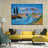 Mintura Abstract Bridge View Hand Painted Oil Painting - COLORMIX