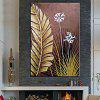 Mintura White Flower Hand Painted Oil Painting - COLORMIX