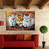 Mintura Animal Cat Hand Painted Oil Painting - COLORMIX