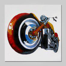 NO1 Stretched Oil Painting Motorcycle Pop Art