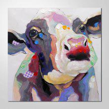 NO1 Colorful Cow on Canvas Modern Animal Oil Painting