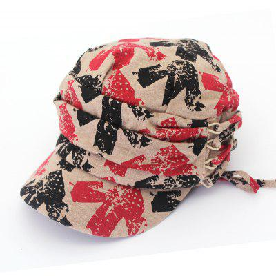 QingFang Unisex Knitted Keep Warm Printed Baseball Hat