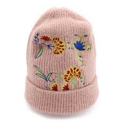 Soft Warm Flower Pattern Ladies Knitted Beanie Hat