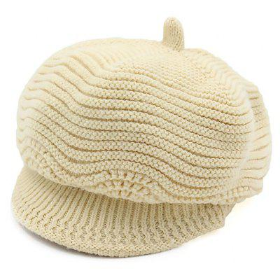 Soft Warm Ladies Knitted Peaked Hat