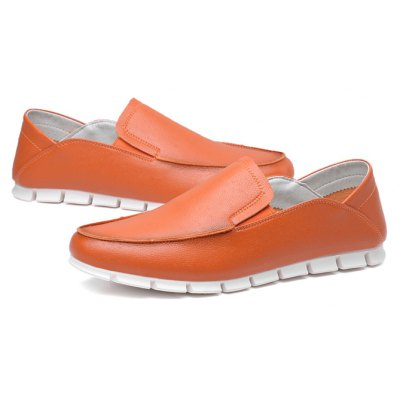 Negócios Masculinos Soft Soled Flat Casual Casual Leather Shoes