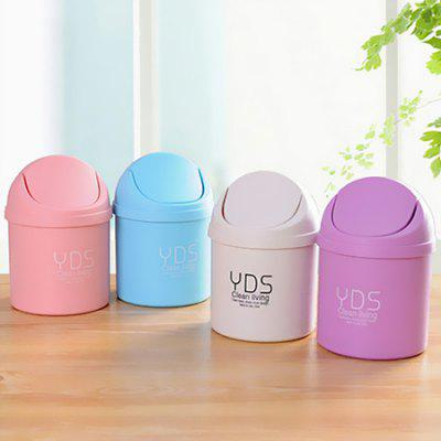 Buy WHITE Mini Desktop Trash Can Small Storage Box with Swing Lid 1PC for $1.08 in GearBest store