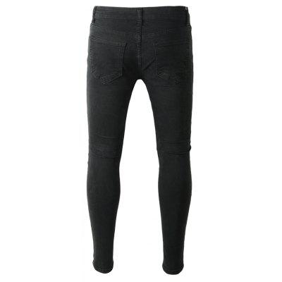 Casual Ripped JeansMens Pants<br>Casual Ripped Jeans<br><br>Material: Cotton, Spandex<br>Package Contents: 1 x Pants<br>Package size: 40.00 x 30.00 x 1.00 cm / 15.75 x 11.81 x 0.39 inches<br>Package weight: 0.4700 kg<br>Product weight: 0.4500 kg