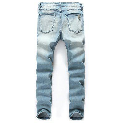 Stylish Ripped Denim JeansMens Pants<br>Stylish Ripped Denim Jeans<br><br>Material: Cotton, Cotton Blends<br>Package Contents: 1 x Pants<br>Package size: 35.00 x 25.00 x 2.00 cm / 13.78 x 9.84 x 0.79 inches<br>Package weight: 0.6200 kg<br>Product weight: 0.6000 kg