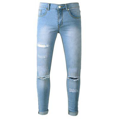 Male Classic Stylish Ripped Jeans