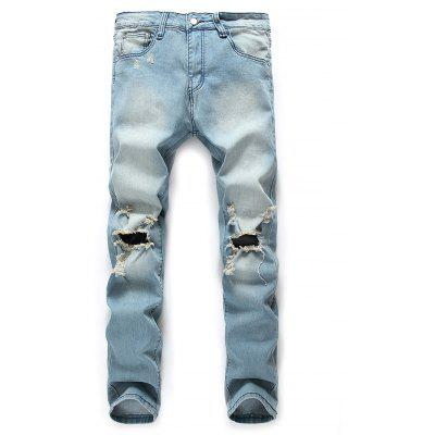 Male Stylish Ripped Denim Jeans