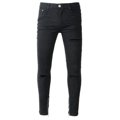 Male Classic Fashion Ripped Jeans