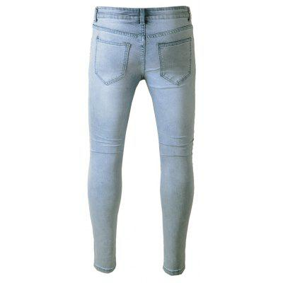 Fashion Ripped Biker JeansMens Pants<br>Fashion Ripped Biker Jeans<br><br>Material: Cotton, Spandex<br>Package Contents: 1 x Pants<br>Package size: 40.00 x 30.00 x 1.00 cm / 15.75 x 11.81 x 0.39 inches<br>Package weight: 0.4700 kg<br>Product weight: 0.4500 kg
