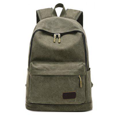 Men Vintage Solid Color Canvas BackpackBackpacks<br>Men Vintage Solid Color Canvas Backpack<br><br>Features: Wearable<br>Gender: Men<br>Material: Polyester, Canvas<br>Package Size(L x W x H): 46.00 x 30.00 x 4.00 cm / 18.11 x 11.81 x 1.57 inches<br>Package weight: 0.6100 kg<br>Packing List: 1 x Backpack<br>Product weight: 0.5900 kg<br>Style: Fashion, Casual<br>Type: Backpacks