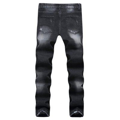 Stylish Ripped Zip JeansMens Pants<br>Stylish Ripped Zip Jeans<br><br>Material: Cotton, Cotton Blends<br>Package Contents: 1 x Pants<br>Package size: 35.00 x 25.00 x 2.00 cm / 13.78 x 9.84 x 0.79 inches<br>Package weight: 0.7200 kg<br>Product weight: 0.7000 kg