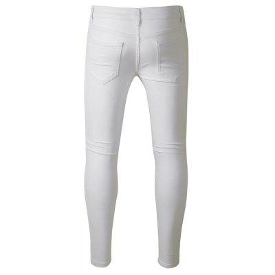 Stylish White Slim Fit JeansMens Pants<br>Stylish White Slim Fit Jeans<br><br>Material: Cotton, Spandex<br>Package Contents: 1 x Pants<br>Package size: 40.00 x 30.00 x 1.00 cm / 15.75 x 11.81 x 0.39 inches<br>Package weight: 0.4700 kg<br>Product weight: 0.4500 kg