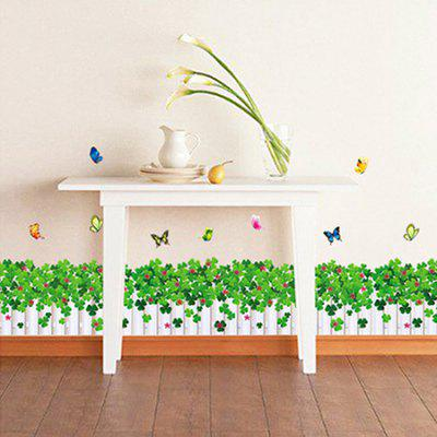 LAIMA Love Clover Skirting Line Removable Wall Sticker