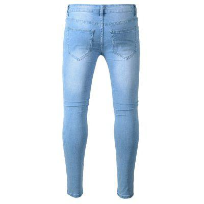 Fashion Slim Fit Ripped JeansMens Pants<br>Fashion Slim Fit Ripped Jeans<br><br>Material: Cotton, Spandex<br>Package Contents: 1 x Pants<br>Package size: 40.00 x 30.00 x 1.00 cm / 15.75 x 11.81 x 0.39 inches<br>Package weight: 0.4700 kg<br>Product weight: 0.4500 kg