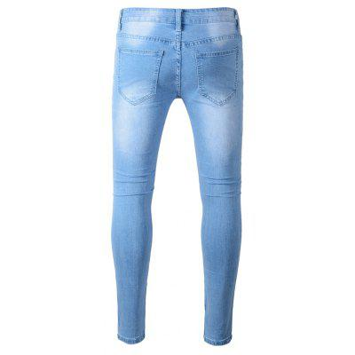 Fashion Slim Fit Jeans with Distressed Details портмоне trussardi jeans trussardi jeans tr016bmoos67