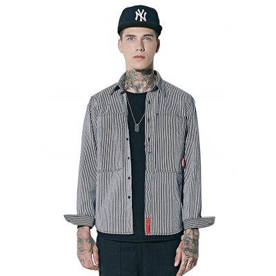 Male Casual Striped Shirt