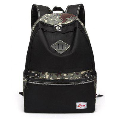 Buy ACU CAMOUFLAGE Men Camouflage Splicing Water-resistant Nylon Backpack for $25.61 in GearBest store