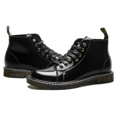 Men Stylish Lace-up Pristine Ankle BootsMens Boots<br>Men Stylish Lace-up Pristine Ankle Boots<br><br>Closure Type: Lace-Up<br>Contents: 1 x Pair of Boots<br>Materials: Rubber, Leather<br>Occasion: Party, Homecoming, Holiday, Daily<br>Outsole Material: Rubber<br>Package Size ( L x W x H ): 33.00 x 24.00 x 15.00 cm / 12.99 x 9.45 x 5.91 inches<br>Package Weights: 1.0300kg<br>Pattern Type: Solid<br>Product Weights: 0.8800kg<br>Seasons: Autumn,Spring,Winter<br>Style: Modern, Leisure, Fashion, Casual<br>Toe Shape: Round Toe<br>Type: Boots<br>Upper Material: Leather