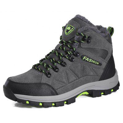 Buy DEEP GRAY 44 Men Comfortable Anti-skidding Durable Hiking Shoes for $38.29 in GearBest store