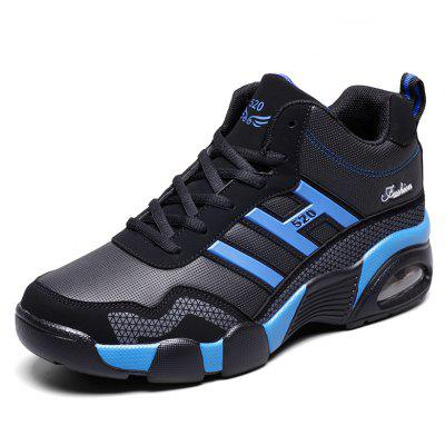Men Stylish Shockproof Athletic Shoes with cushioningAthletic Shoes<br>Men Stylish Shockproof Athletic Shoes with cushioning<br><br>Closure Type: Lace-Up<br>Contents: 1 x Pair of Shoes<br>Function: Slip Resistant, Puncture Resistant<br>Materials: Mesh, PU, Rubber, Leather<br>Occasion: Sports<br>Outsole Material: PU,Rubber<br>Package Size ( L x W x H ): 32.00 x 26.00 x 12.00 cm / 12.6 x 10.24 x 4.72 inches<br>Package Weights: 1.0500kg<br>Product Weights: 0.9000kg<br>Seasons: Autumn,Spring<br>Style: Fashion, Comfortable<br>Toe Shape: Round Toe<br>Type: Sports Shoes<br>Upper Material: Leather,Mesh