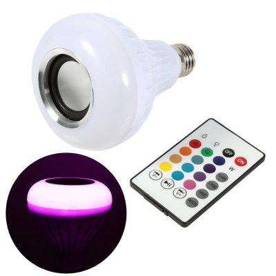 KWB LED RGBW Color Bulb Light E27 Bluetooth Control Smart Music Audio Speaker LampsSmart Lighting<br>KWB LED RGBW Color Bulb Light E27 Bluetooth Control Smart Music Audio Speaker Lamps<br><br>Bulb Shape: A80<br>Color Temperature or Wavelength: White 400-450Lumen , Red (660nm), Green (550nm), Blue (440nm)<br>Connection: E27<br>Connector Type: E27<br>Dimmable: No<br>Features: Remote-Controlled<br>Initial Lumens ( lm ): White color 400-450<br>LED Beam Angle: 120 Degree<br>LED Chip Brand: Epistar<br>LED Quantity: 9<br>LED Type: High Power LED<br>Lifetime ( h ): More Than  45000<br>Light Source Color: RGBW<br>Material: Stainless Steel and A Grade ABS<br>Package Contents: 1 x LED Bulb Light<br>Package size (L x W x H): 15.00 x 10.00 x 15.00 cm / 5.91 x 3.94 x 5.91 inches<br>Package weight: 0.2000 kg<br>Primary Application: BBQ,Childrens Room,Christmas Decor Favor,Decorate wedding scene,Dinner Decor,Everyday Use,Hotel Dining Table,Residential,Table Decoration,Wedding Banquet Dinner,Wedding Party Decoration<br>Product size (L x W x H): 10.00 x 8.00 x 8.00 cm / 3.94 x 3.15 x 3.15 inches<br>Product weight: 0.1500 kg<br>Quantity: 12pcs<br>Switch Type: Clicky<br>Type: LED Globe Bulbs<br>Voltage: 110 - 240V<br>Wattage: 9W