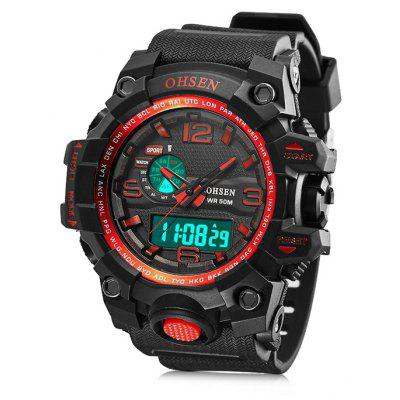 Buy RED OHSEN AD1606 Fashion Silicone Band Men Quartz Sports Watch for $13.93 in GearBest store