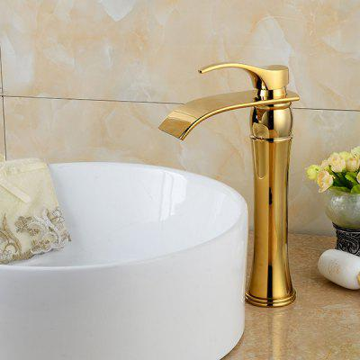 LING HAO HL - 225 Single Handle Waterfall Bathroom FaucetFaucets<br>LING HAO HL - 225 Single Handle Waterfall Bathroom Faucet<br><br>Battery Included: No<br>Body Sprays Included: No<br>Brand: LINGHAO<br>Cold and Hot Switch: Yes<br>Drain Included: Yes<br>Faucet Body Material: Brass<br>Faucet center: Single Hole<br>Faucet Features: Easy Install,Easy to use,Eco Friendly<br>Faucet Spout Material: Stainless Steel<br>Faucet Type: Bathroom Sink Faucet<br>Handle Material: Zinc Alloy<br>Handshower Included: No<br>Handshower Material: Brass<br>Home Finish: Golden<br>Installation Holes Handles: Single Handle One Hole<br>Installation Type: Centerset<br>Package Contents: 1 x Pack of Stationary Fittings, 2 x Water Inlet Pipe, 1 x English Manual<br>Package size (L x W x H): 37.00 x 18.00 x 7.00 cm / 14.57 x 7.09 x 2.76 inches<br>Package weight: 1.4000 kg<br>Product weight: 1.2000 kg<br>Rain Shower Included: No<br>Rain Shower Material: Brass<br>Shower Arm Included: No<br>Style: Contemporary<br>Valve Included: Yes<br>Valve Type: Brass Valve