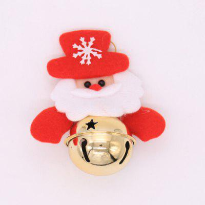 Christmas Decorative Santa Claus Bear Elk Bell Pendant
