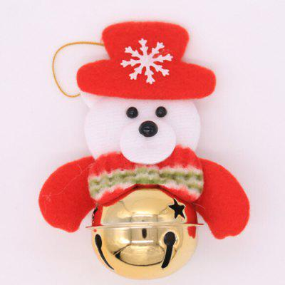 Buy COLORMIX Christmas Decorative Santa Claus Bear Elk Bell Pendant for $1.40 in GearBest store