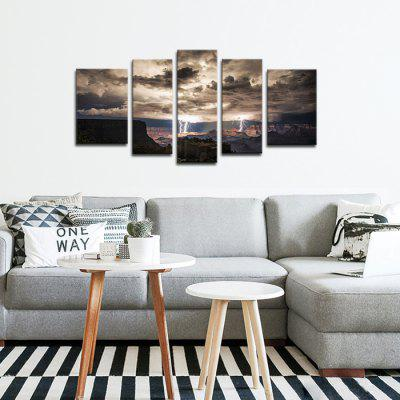 JOY ART Framed Print Dark Clouds Hanging Artwork 5PCSPrints<br>JOY ART Framed Print Dark Clouds Hanging Artwork 5PCS<br><br>Brand: JOY ART<br>Craft: Print<br>Form: Five Panels<br>Material: Canvas<br>Package Contents: 5 x Print<br>Package size (L x W x H): 62.00 x 10.00 x 27.00 cm / 24.41 x 3.94 x 10.63 inches<br>Package weight: 1.6000 kg<br>Painting: Include Inner Frame<br>Product weight: 1.2000 kg<br>Shape: Horizontal Panoramic<br>Style: Combination<br>Subjects: Landscape<br>Suitable Space: Bedroom,Cafes,Dining Room,Hallway,Hotel,Kids Room,Kitchen,Living Room,Office,Study Room / Office