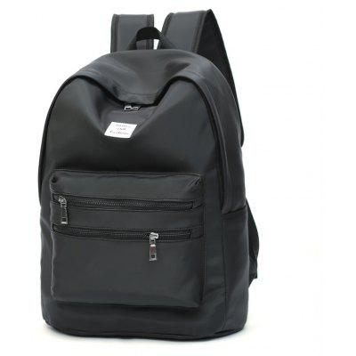 Buy BLACK Men Business Solid Color Laptop Backpack for $23.63 in GearBest store