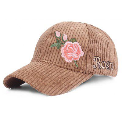 Fashion Rose Pattern Breathable Baseball Hat
