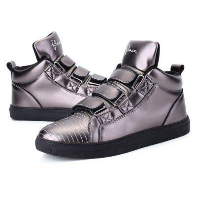 Female Trendy British Motifs Ankle Top Soft Casual SneakersWomens Sneakers<br>Female Trendy British Motifs Ankle Top Soft Casual Sneakers<br><br>Closure Type: Buckle Strap<br>Contents: 1 x Pair of Shoes, 1 x Box, 1 x Piece of Dustproof Paper<br>Function: Slip Resistant<br>Materials: Rubber, PU<br>Occasion: Sports, Shopping, Running, Party, Outdoor Clothing, Holiday, Daily, Casual, Basketball, Riding<br>Outsole Material: Rubber<br>Package Size ( L x W x H ): 33.00 x 22.00 x 11.00 cm / 12.99 x 8.66 x 4.33 inches<br>Package Weights: 0.85kg<br>Seasons: Autumn,Spring<br>Style: Modern, Leisure, Fashion, Comfortable, Casual<br>Toe Shape: Round Toe<br>Type: Sports Shoes<br>Upper Material: PU