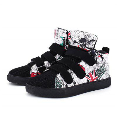 Feminino Trendy British Motifs Ankle Top Soft Casual Sneakers