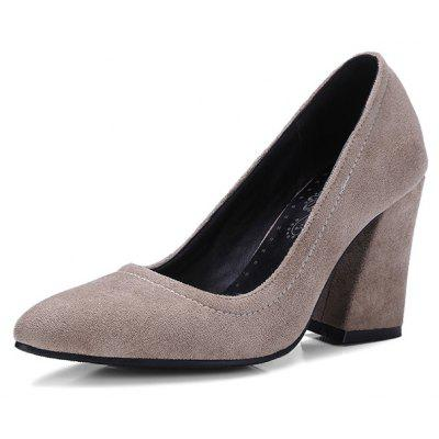 Female Soft Elegant Professional Medium Heel PumpsWomens Pumps<br>Female Soft Elegant Professional Medium Heel Pumps<br><br>Closure Type: Slip-On<br>Contents: 1 x Pair of Shoes, 1 x Box, 1 x Piece of Dustproof Paper<br>Function: Slip Resistant<br>Lining Material: PU<br>Materials: Rubber, Suede, PU<br>Occasion: Tea Party, Shopping, Party, Holiday, Casual, Office, Daily, Dress, Formal<br>Outsole Material: Rubber<br>Package Size ( L x W x H ): 32.00 x 21.00 x 11.00 cm / 12.6 x 8.27 x 4.33 inches<br>Package Weights: 1.20kg<br>Pattern Type: Solid<br>Seasons: Autumn,Spring,Summer<br>Style: Modern, Leisure, Formal, Fashion, Comfortable, Casual, Business<br>Toe Shape: Pointed Toe<br>Type: Pumps<br>Upper Material: Suede