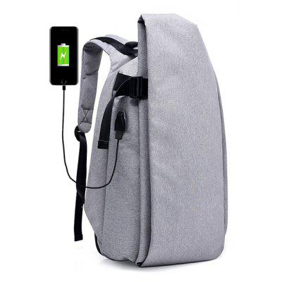 Buy LIGHT GRAY Men Stylish Anti-theft Canvas Backpack with USB Port for $22.95 in GearBest store