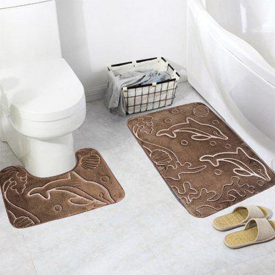 Durable Toilet Mat 3D Dolphin Embossed Pattern 2PCSOther Bathroom Accessories<br>Durable Toilet Mat 3D Dolphin Embossed Pattern 2PCS<br><br>Package Contents: 1 x U-shaped Mat, 1 x Rectangular Shape Mat<br>Package size (L x W x H): 15.00 x 10.00 x 10.00 cm / 5.91 x 3.94 x 3.94 inches<br>Package weight: 0.2700 kg<br>Product weight: 0.2500 kg